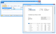 <p>After the new template is designed and added as a template for Purchase Order report in Docentric report setup, by clicking the Original Preview or the Copy Preview button on the Purchase Order Journal form, a report with fresh new look appears.</p>