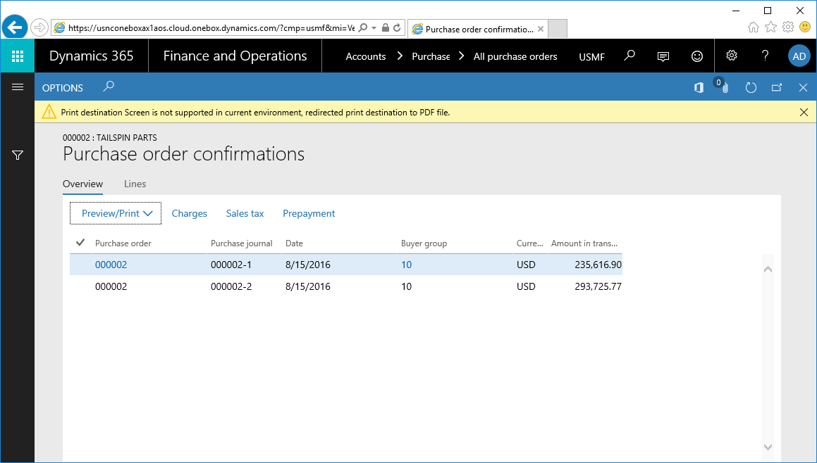 Report Viewer in Dynamics 365 for Finance and Operations On