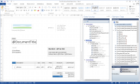 <p>By using generated report data source we can now design a new template for the Purchase Order SSRS report. Designing templates takes place in Docentric AX Template Designer, which is actually MS Word with a special Add-In.</p>