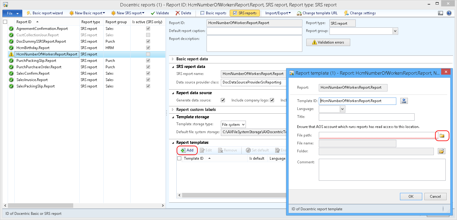 SSRS Report Examples Docentric AX