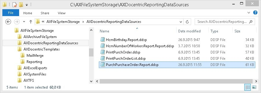 How to Use a Print Management SSRS report as Docentric Report