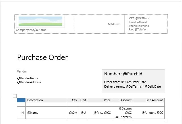 how to do a purchase order in vend