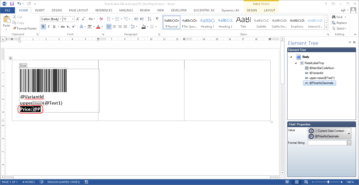 creating label templates in word