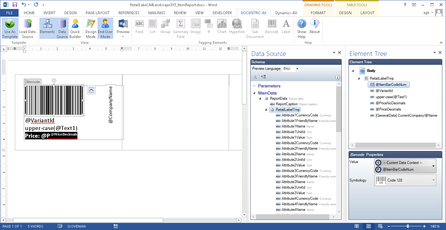 Learn About Label Design In MS Word With Docentric AX Designer U003eu003e