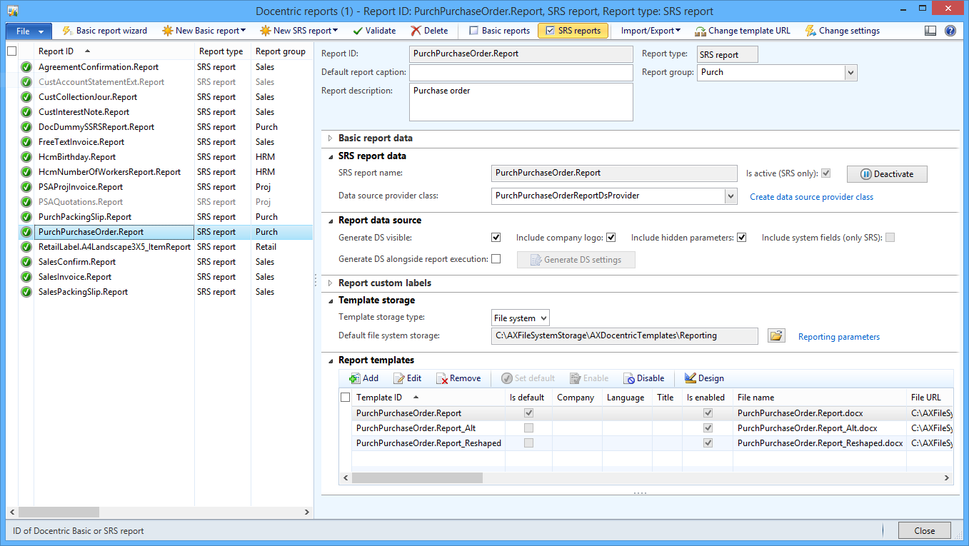 SSRS Report Examples - Docentric AX