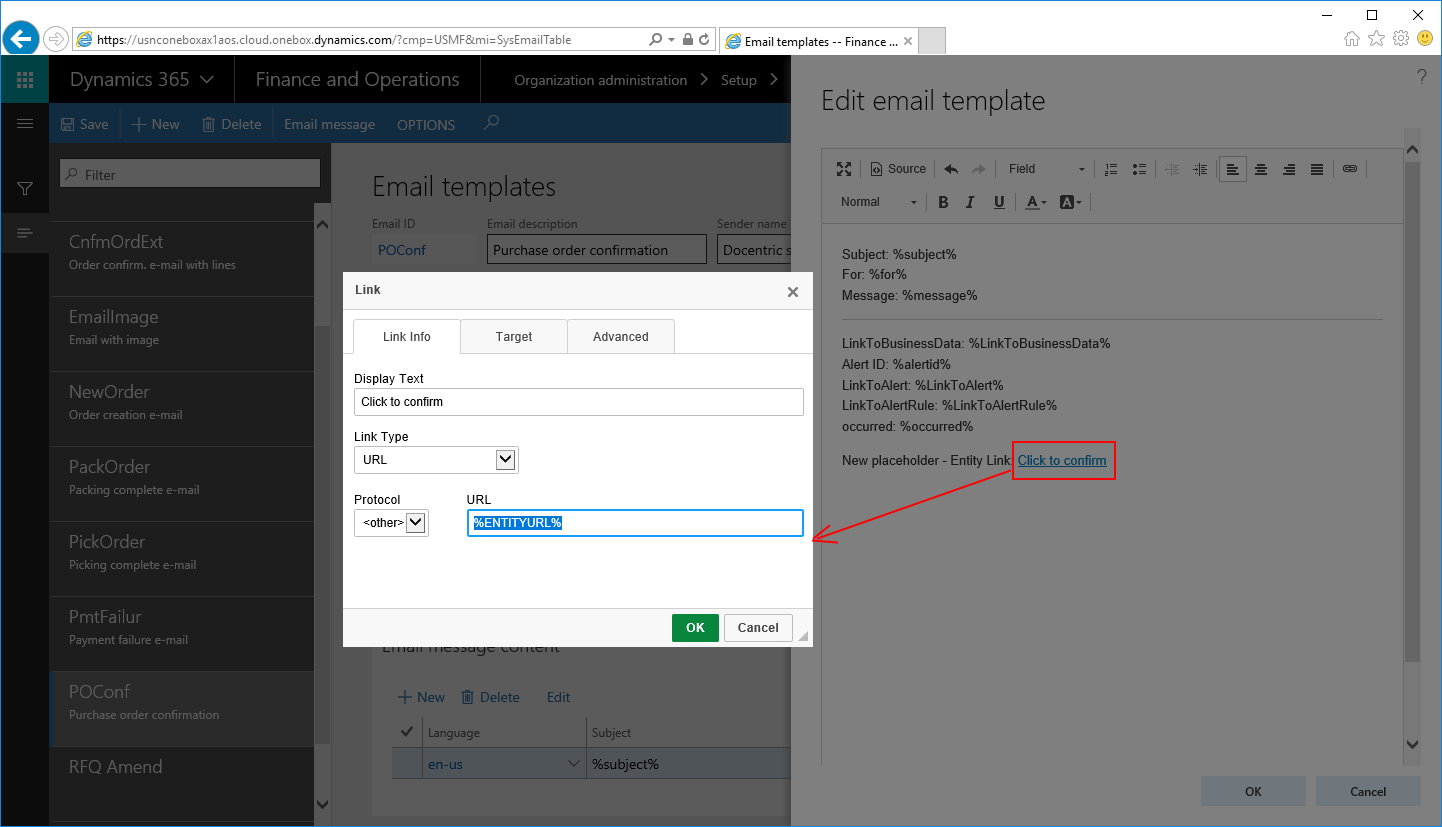 Deep links in Workflow Email Notifications in Dynamics 365 for ...